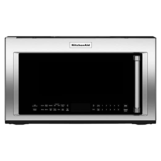 Kitchen Aid Kmhc319ess 1 9 Cu Ft 1000w Stainless Over The Range Microwave