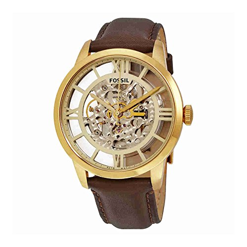 Brown Leather Automatic Watch - Fossil Men's ME3043 Townsman Analog Display Japanese Automatic Brown Watch