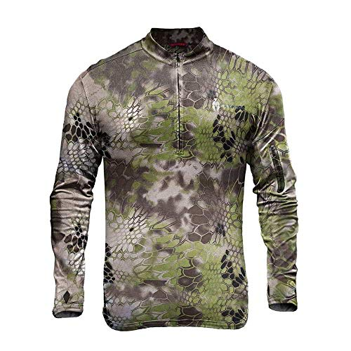 Kryptek Tora 1/4 Zip - Thermal Camo Hunting Shirt (Altitude Collection), Altitude, M ()