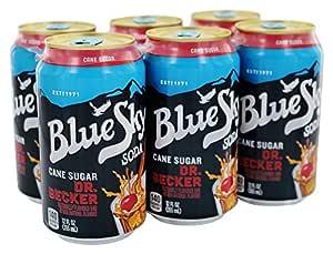 amazon com blue sky can sugar dr becker soda 12 ounce