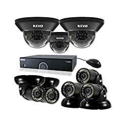 REVO America R165D3GT5G-2T 16 Ch. 2TB 960H DVR Surveillance System with 8 700TVL 100 ft. Night Vision Cameras