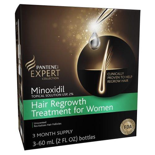Pantene Minoxidil solution topique Usp, 2% la repousse des cheveux traitement pour les femmes de 90 jours d'alimentation 6 Fl Oz