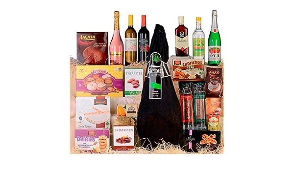 Cesta de Navidad, lote de Navidad nº 19 con paleta serrana bodega: Amazon.es: Alimentación y bebidas