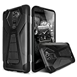verizon lg cell phone case - LG K8 V (2016) Case, TJS® Dual Layer Hybrid Shock Absorbing Impact Resist Rugged Drop Protection Case Cover with Kickstand with Silicone Inner Layer For LG K8 V / LG VS500 (Black/Black)