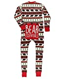 Red Bear Fair Isle Adult Flapjack Onsie Pajamas by LazyOne | Adult Kid Infant Dog Family Matching Pajamas (Large)