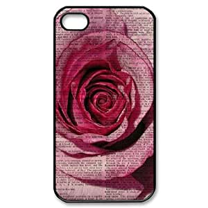 Vintage Flower Watercolor Use Your Own Image Phone Case for Iphone 4,4S,customized case cover ygtg586891