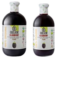 Blackberry Juice, Organic, Natural, Pure, Made from Wild Blackberries, Fresh Juice 1 Liter, Vegan, 100% Kosher
