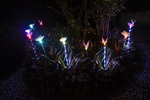 Qualife Solar Garden Lights,Solar Lights Outdoor Decorative, 3 Pack Butterfly Garden,Solar Butterfly Lights,Best Garden Decor,Solar Decorative Lights for Housewarming,Yard Art,Patio Decor.