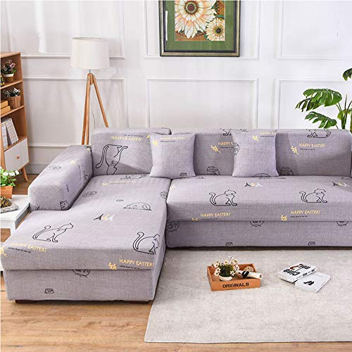 JESU Waterproof Sofa Cover for Pets Dog Sectional Couch, L-Type Single Elastic All-Inclusive Universal Sofa Cover Lazy Cushion All-Inclusive Waterproof for Kids, Pets,H,3seat7391inch185230cm