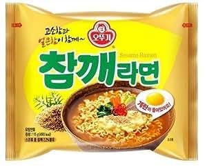 Ottogi Sesame Flavor Noodle 4.05 Oz - Combo (One Pack)