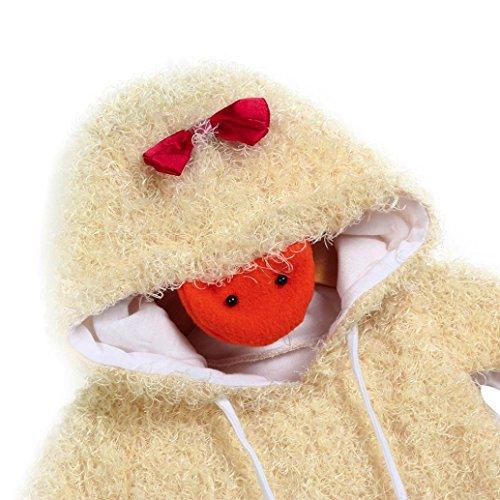 Amlaiworld Baby Mädchen Küken shirt flauschig winter Kleinkind warm niedlich pullis,0-24Monate Gelb