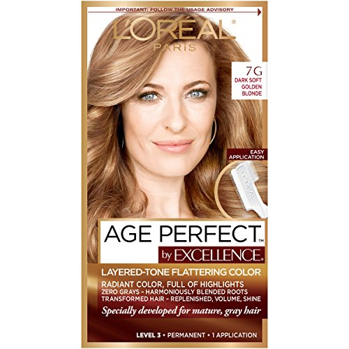 L'Oreal Paris ExcellenceAge Perfect Layered Tone Flattering Color, 7G Dark Natural Golden Blonde (Packaging May Vary) (L Oreal Excellence Creme Light Reddish Blonde)
