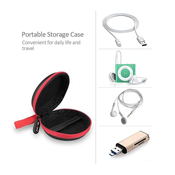 For Earphone Earbuds Mp3 USB Cable Portable Storage Bag Hard Hold Case FT
