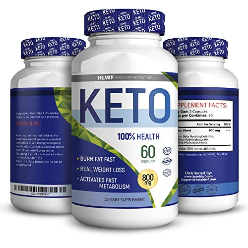BHB Keto Capsules Advanced Weight Loss Supplement Ketogenic Carb Blocker and Natural Appetite Suppressant Promotes Focus, Energy, Fat Burning 60 Keto Pills