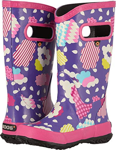 Bogs Kids Baby Girl's Rainboot Clouds (Toddler/Little Kid/Big Kid) Violet Multi 3 M US Little Kid