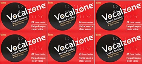 Vocalzone 24 pastilles x 6 Packs by Vocalzones