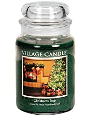 Village Candle Christmas Tree 16 oz Glass Jar Scented Candle