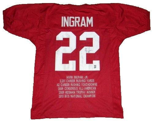 Mark Ingram Autographed Jersey -  22 Stat Gtsm - GTSM Certified -  Autographed College Jerseys at Amazon s Sports Collectibles Store 7e9f5c3c0
