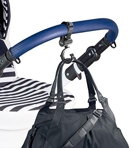 Set of 2 Stroller Hooks for Bags, Purses, Water Bottles & More | Mommy Hook Stroller Bag Hanger Clips | 360 Degree Swivel Stroller Carabiner Hooks | Stroller Hook Set for Mommy by Boxiki Kids by Boxiki Kids (Image #4)