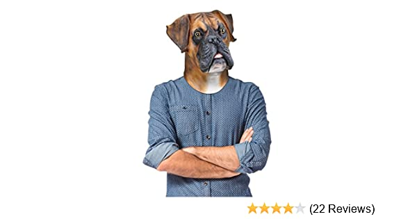 BigMouth Barry the Boxer Dog Latex Face Mask Prank Halloween Costume Party