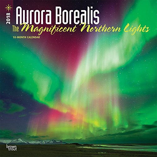 Aurora Borealis: The Magnificent Nothern Lights 2018 12 x 12 Inch Monthly Square Wall Calendar with Foil Stamped Cover, USA Alaska Northern Lights (Multilingual Edition)