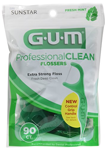 Gum Professional Clean Flossers, Fresh Mint 90 ea (Pack of (Mint Flossers)