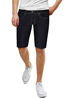 Denim Jeans Forthery Mens Stretchy Shorts Casual Wrinkle Fit Drawstring Destroyed Taped Slim Fit Denim Pants