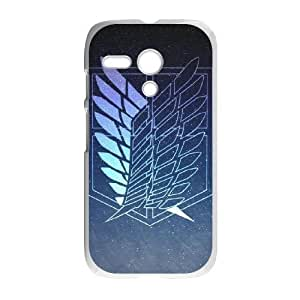 Motorola Moto G Phone Case White Attack on Titan DY7714515