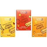 Ella's Kitchen Nibbly Fingers Organic Bundle: (1) Mangoes and Carrots 4.4oz, (1) Apples and Strawberries 4.4oz, (1) Bananas and Raisins 4.4oz (3 Pack Total)