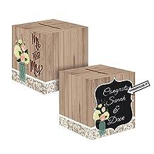 Creative Converting Card Holder Box, Rustic Wedding