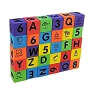 Foam Number Alphabet Letters ABC/123 Animal Multi-colored Baby Blocks Toys,1SET=30PCS