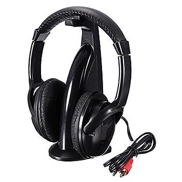 SUT 5 in1 Auriculares inalámbricos Hi-Fi Monitor FM Micrófono para PC y TV DVD Audio Mobile: Amazon.es: Electrónica