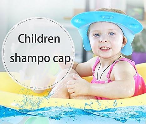 SunnyJenny Visière Casquette Bonnet de Bain Douche Shampoing pour Bébés  Enfants-Capuchon en silicone  Amazon.fr  Bébés   Puériculture b3cc0df6d36