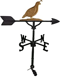 product image for Montague Metal Products Quail Weathervane, 32-Inch, Gold/Bronze
