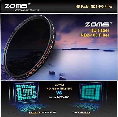 densit/à neutra variabile filtro oscurante HD ND2-400 Zomei in vetro tedesco schott e struttura in alluminio regolabile 58 mm