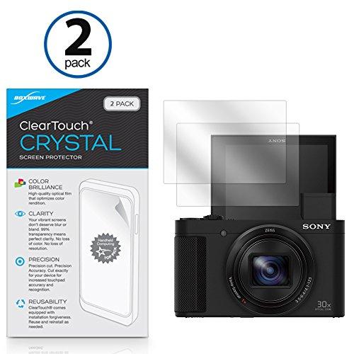 Sony Cyber-shot DSC-HX80 Screen Protector, BoxWave [ClearTouch Crystal (2-Pack)] HD Film Skin - Shields From Scratches for Sony Cyber-shot DSC-HX80 | CyberShot DSC-WX500