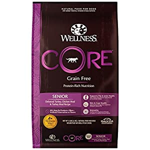 Wellness CORE Natural Grain Free Dry Dog Food, Senior, 12-Pound Bag