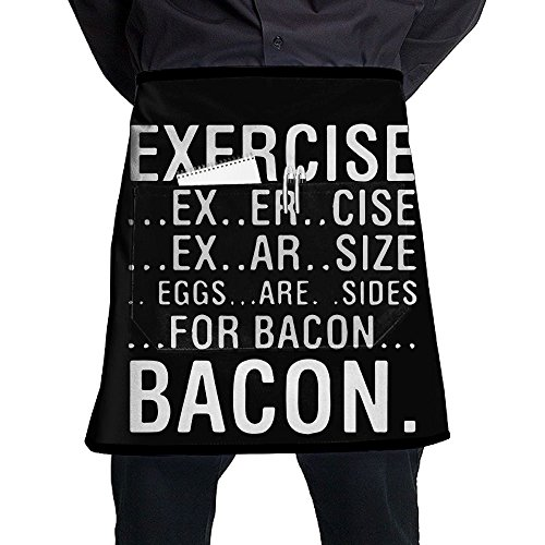 XiHuan Grill Aprons Kitchen Chef Bib Exercise Eggs Are Sides For Bacon Professional For BBQ Baking Cooking For Men Women Pockets