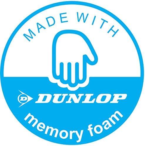 Dunlop Pantoufles confortables pour homme avec bande Velcro et boucle Diabetic Orthopedic Comfy Mousse /à m/émoire de forme Taille EU 41-46