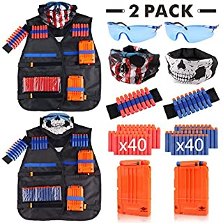 Tactical Vest Kit 2 Pack for Nerf Guns N-Strike Elite Series for Boys