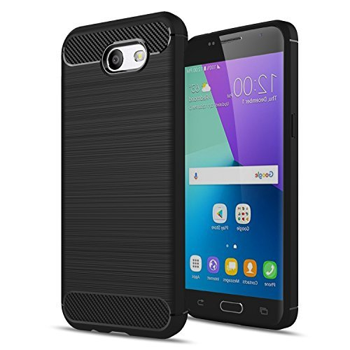 Galaxy J3 Emerge/J3 2017/J3 Mission/J3 Eclipse/J3 Luna Pro/Amp Prime 2/J3 Prime/Express Prime 2 Case,AnoKe Slim Scratch Resistant TPU Thin cases cover For Samsung J3 Emerge HWLS Black