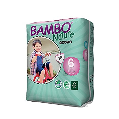 Bambo Nature Extra Gro/ß Pull Up Trainingshose Packung von 18 St/ück