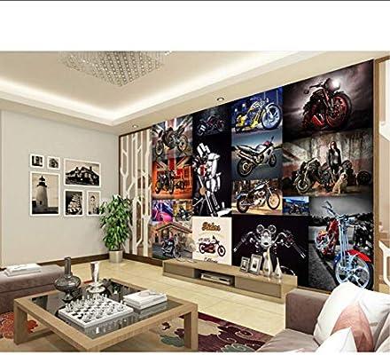 Wiwhy Los Murales 3D Personalizados, Motos De Estilo Europeo, Papel Tapiz Retro, Sala De Estar, Sofá, Televisor, Pared, Dormitorio, Papel De Pared-400X280Cm: Amazon.es: Bricolaje y herramientas
