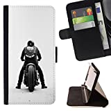Smartphone Leather Wallert Case Protective Case Cover Money Card Holder Case for LENOVO MOTO Z FORCE / MOTO ZFORCE (NOT FOR MOTO Z) / CECELL Phone case / / Bobber Motorcycle Gang /