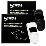 Black & White Combo Trezor Hardware wallet vault safe for digital virtual currency Bitcoin Litecoin