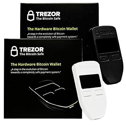 Black White Combo Trezor Hardware Wallet Vault Safe For Digital Virtual Currency Bitcoin Litecoin