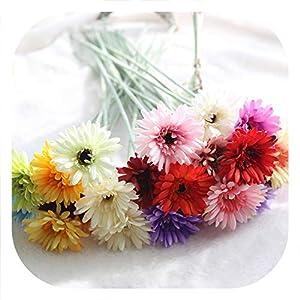 Memoirs- 20pcs/lot Artificial Gerbera Flowers Silk Flowers Artificial Gerberas Flowers for Home Wedding Bouquets Artificial Flowers 45