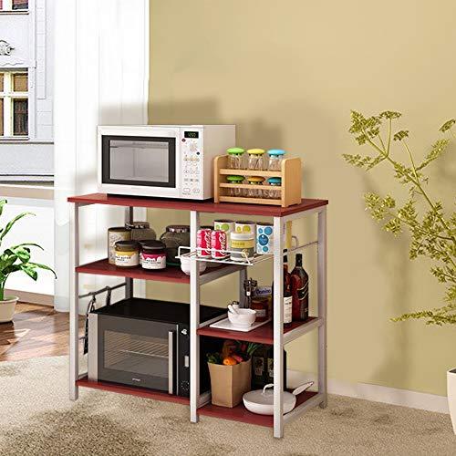Iuhan  Kitchen Baker's Rack Utility Storage Shelf, 3-Tier Kitchen Baker's Rack Utility Microwave Oven Stand Storage Cart Workstation Shelf Stand Organizer by Iuhan  (Image #3)