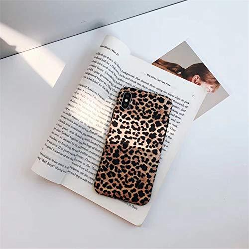 LENALE - Carcasa de Silicona para iPhone 6, 6S, 7 y 8 Plus, diseño de Leopardo, For XR, Leopard Print