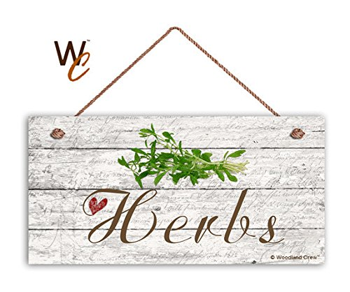 - Herbs Sign, Garden Sign, Rustic Decor, Herb on Distressed Wood, 5